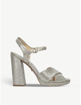 MICHAEL Michael Kors Alexia glitter platform sandals