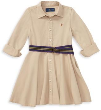 Ralph Lauren Little Girl's & Girl's Belted Chino Dress