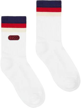Gucci Game patch cotton-blend socks