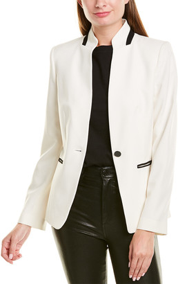 Karl Lagerfeld Paris Stand-Up Collar Jacket
