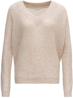 Brunello Cucinelli V-Neck Knitted Jumper