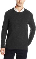 Haggar Men's Solid Crewneck W/ Nep Yarn Sweater