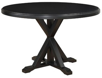 Alcott Hill Fanning Dining Table Color: Antique Black
