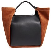 Givenchy Show Real Leather & Suede Tote - Brown