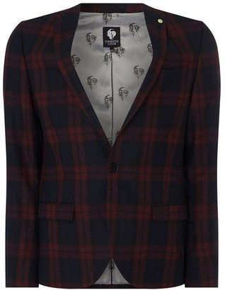 Twisted Tailor Ginger Skinny Fit Checked Jacket