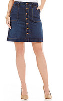 Jag Jeans Florence Button Front A-Line Denim Skirt