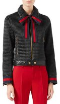Gucci Quilted Bomber Jacket, Black