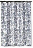 Threshold Jakobean Shower Curtain - Gallery White/Blue