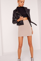 Missguided Petite Scuba Mini Skirt Nude