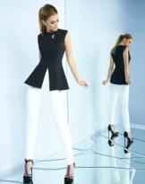Ieena for Mac Duggal - 25696i Two Pieces Sleeveless Jewel Pantsuit