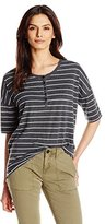 G.H. Bass & Co. Women's Henley Tee Top