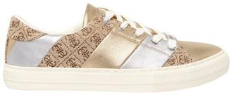 GUESS Lust Gold4/Silver/Beige + Lt Brown Sneaker
