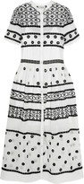 Temperley London Lizette embellished cotton and silk-blend organdy dress
