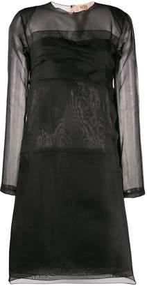 No.21 sheer detail layered dress
