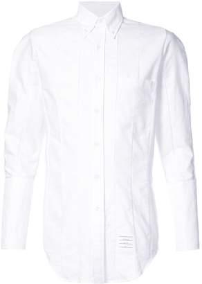 Thom Browne ribbed detail slim-fit shirt