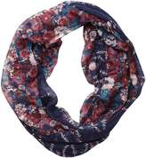 Navy Creeping Floral Snood
