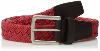 Cole Haan Men's 32mm Woven Fabric Belt with Leather Tabs