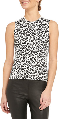 Theory Leopard Print Shell