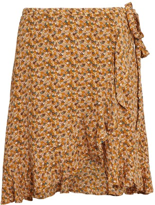 Samsoe & Samsoe Limon Floral Wrap Mini Skirt