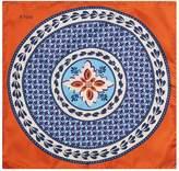 Eton Silk Floral Geometric Printed Pocket Square