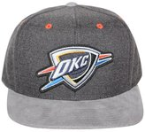 Mitchell & Ness Oklahoma City Thunder Cation Perforated Suede Snapback Cap