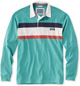 L.L. Bean Lakewashed Rugby, Traditional Fit Long-Sleeve Chest Stripe