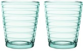 Iittala Set of 2 Water Green Aino Aalto Tumblers