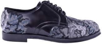 Dolce & Gabbana Grey Leather Lace ups