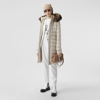 Burberry Detachabe Faux Fur Trim Hooded Puffer Coat