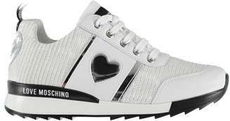 Love Moschino Women's Lace Glitter Trainers