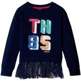 Tommy Hilfiger TH85 Mixed Media Top Girl's Clothing