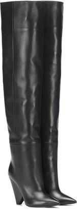 Saint Laurent Niki 105 leather boots