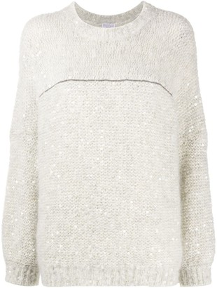 Brunello Cucinelli Sequin-Embellished Jumper
