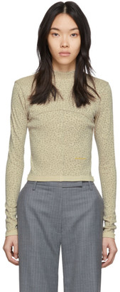 Eckhaus Latta Tan Lapped Baby Turtleneck