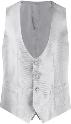 Canali Woven Effect Waistcoat