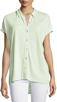 Eileen Fisher Short-Sleeve Organic Linen High-Low Tunic