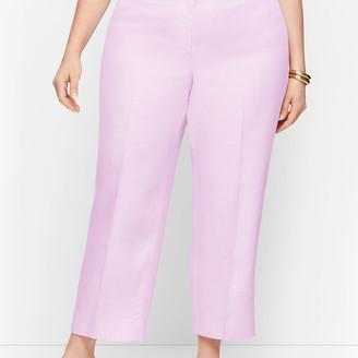 Talbots Linen Straight Leg Crop - Curvy Fit - Twill