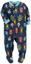 Carter's 1-Pc. Monster-Print Footed Fleece Pajamas, Baby Boys (0-24 months)