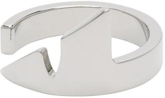 Fendi Silver Corner Bug Ring