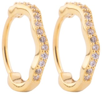 Zara Gold Wave Huggy Hoops