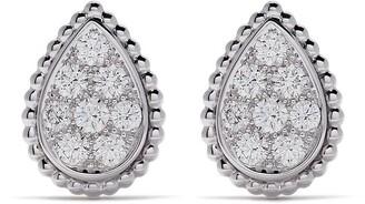 Boucheron 18kt white gold Serpent Boheme diamond stud S motif earrings