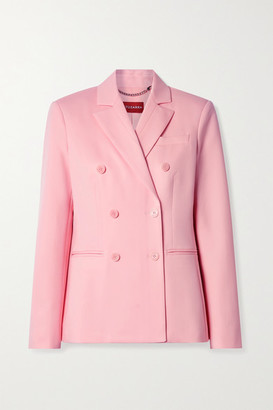 Altuzarra Ana Double-breasted Wool-blend Blazer - Pastel pink
