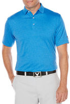 Callaway Golf Performance Heathered Short Sleeve Polo Shirt