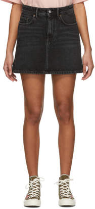 Acne Studios Black Bla Konst Denim Caitlyn Miniskirt