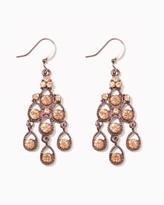 Charming charlie Roped Rhine Drop Earrings