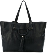 Borbonese snakeskin effect large tote