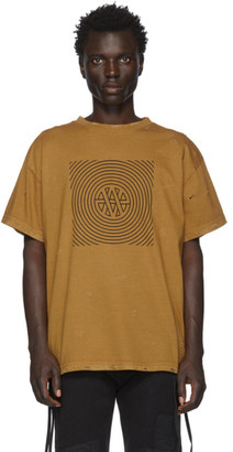 Vyner Articles Tan Distressed Trance Vision T-Shirt