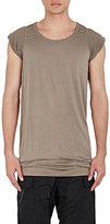 Rick Owens Men's Cyclops Silk T-Shirt-GREY