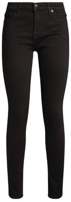 7 For All Mankind Crystal-Embellished Skinny Illusion Jeans