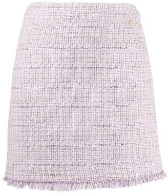 Twin-Set Tweed Straight Fit Skirt